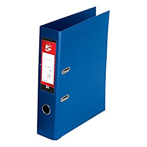 5 Star Lever Arch File PVC Spine 70mm A4 Royal Blue [Pack of 10]