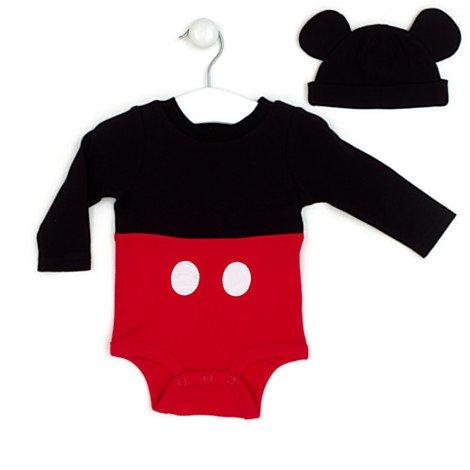 Micky Maus - Body, Mickey Mouse Charakter Bodysuit Größe 0-3 - 0 3 Monat Mickey Mouse Kostüm