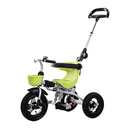 NBgy Triciclo, Rueda Vacía De Titanio Multifunción 3 En 1 Triciclo Plegable con Un Solo Botón, Triciclo...