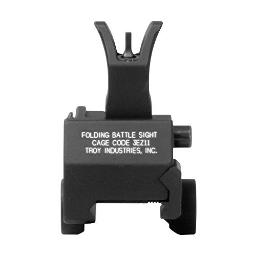 Troy Industries Front Folding M4 Style Gas Block Mounted Battle Sight (Black) by Troy Industries -