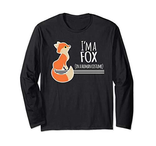 Fox Red Kostüm - Red Fox Kostüm Lustige Ich Bin Ein Füchse Halloween Langarmshirt