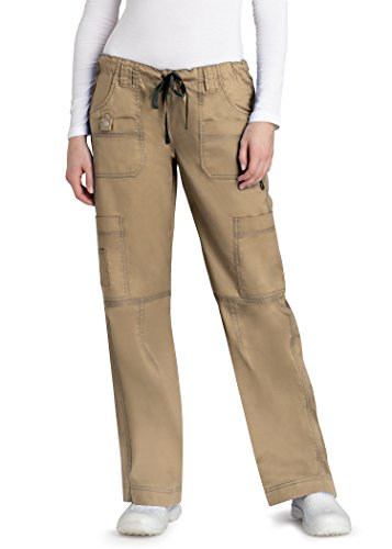 Adar pop-stretch Junior Fit Low Rise Multi Pocket Gerades Bein Hosen Petite Gr. XX-Large, khaki (Low-rise-uniform)