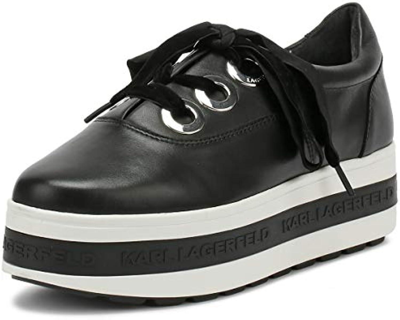Karl Lagerfeld Kobo Kup 3-Eye Tie Nero Donna Platform scarpe scarpe scarpe da ginnastica | Aspetto Gradevole  a6cbc0