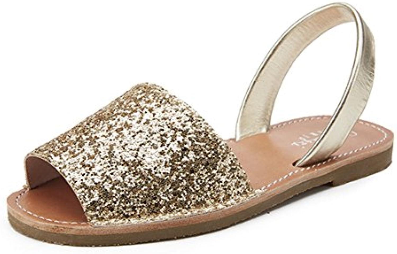 Moda Nuevo Zapatos con Tacon Alto para Mujer Plataforma 42 EU|Beige