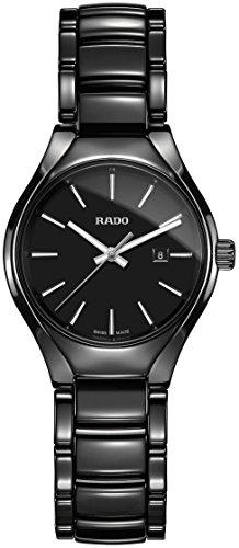 Uhr Rado True r27059152Quarz (Batterie) Keramik Quandrante schwarz Armband Keramik (Rado-uhr Batterie)