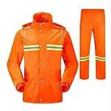 Regenmantel Anzug Hygiene Arbeiter Wasserdicht Langarm Regenmantel MäNner Im Freien Reflektierenden Sicherheitsponcho, Orange