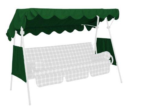 Angerer 804/01 Sonnendach für Hollywoodschaukel PE-Gewebe, Grün, 200 x 120 cm