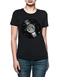 f06ba43eb Vendax Galaxia Melodías Camiseta Mujer Negro