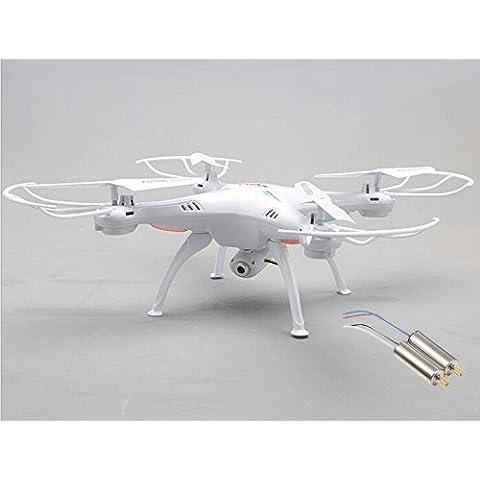 Yacool ® Syma X5SC Exploradores 2 - 2.4G 4 canales 6-Axis Gyro RC sin cabeza Quadcopter con HD cámara - blanco (2 motores como regalo)