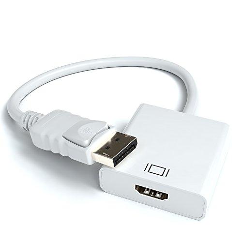 Displayport zu HDMI Adapter | DP Stecker zu HDMI Buchse Adapter Kabel Video Audio Konverter für PC Laptop