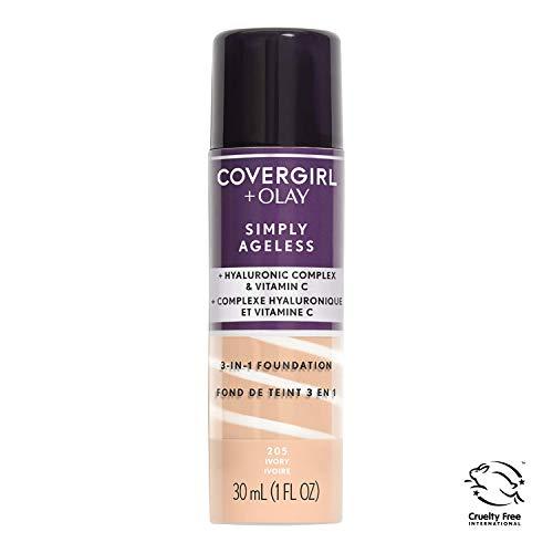 COVERGIRL - Smiply Ageless 3-in-1 Liquid Foundation Ivory 205-1 fl. oz. (30 ml) -