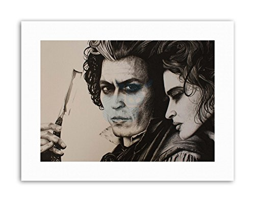Wee Blue Coo LTD Sweeny Todd Johnny Depp by W.Maguire Canvas Art Prints
