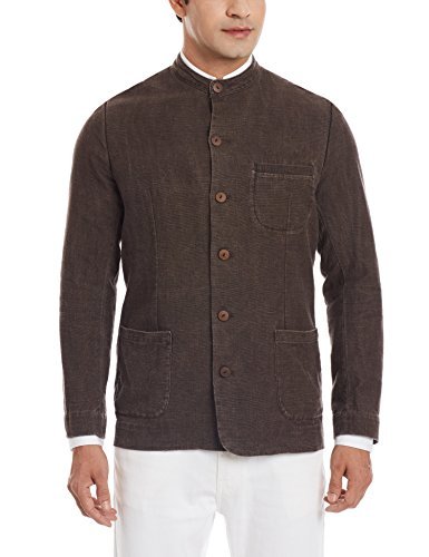 11.11/eleven eleven Men's Slim Fit Blazer (Khadi Nehru Jacket/EKC/31/M_Charcoal)  available at amazon for Rs.1760
