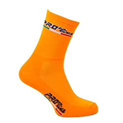 Calze Calzini Ciclismo Arancione Fluo all Orange Cycling Socks 1 Paio One Size