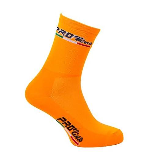 Calze Calzini Ciclismo Arancione Fluo all Orange Cycling Socks 1 Paio One Size