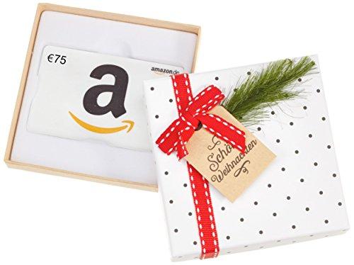 Amazon.de Geschenkkarte in Geschenkbox - 75 EUR (Tannenzweig) -