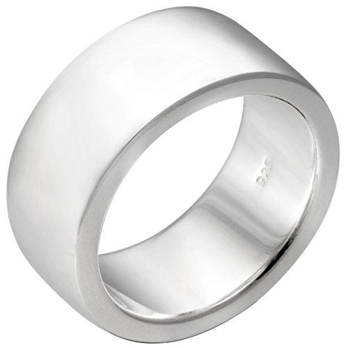 Vinani Ring breit glänzend schlicht massiv Sterling Silber 925 Größe 60 (19.1) REG60
