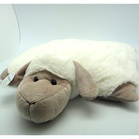 Lilalu 5641–Cojín liegendes oveja de peluche, grande
