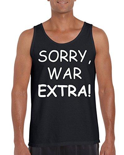 TRVPPY Herren Tank-Top Motiv SORRY WAR EXTRA, Schwarz, M