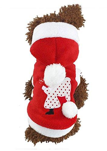 Unisex Samt Hundemantel Hund Weihnachtskleid Wintermantel Weihnachtsmannkostüm für kleinen Teddy Hund Katze im Herbst und Winter Winter Hüte Für Teenager