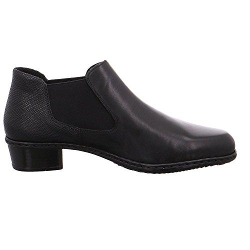 Rieker Damen M0752 Chelsea Boots Schwarz (Nero/Nero)
