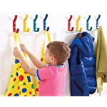 The Products Store Coloured Hooks - School Childrens Coat Hooks: Blue/Green/Grey/Red/Yellow