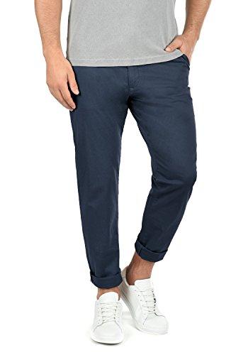 !Solid Machico Herren Chino Hose Stoffhose Mit Gürtel Aus Stretch-Material Regular Fit, Größe:W36/34, Farbe:Insignia Blue (1991)
