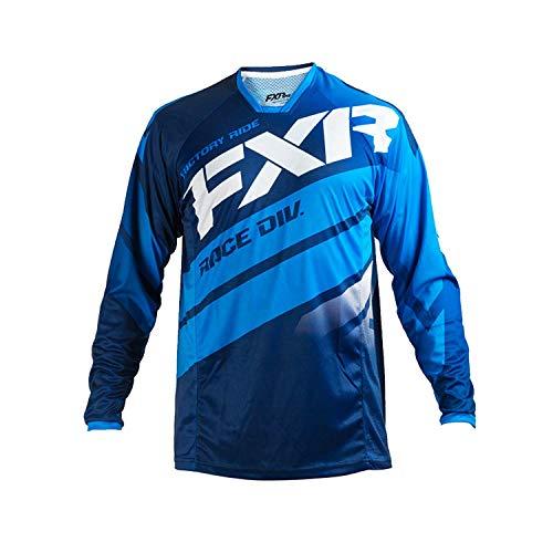 FXR Racing Mission 18 Herren MX Motocross Gelände Jersey - Marine/Blau/Weiß - Marine,Blau,Weiß, L Fxr Racing