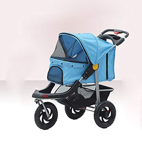 Aoligei Luxus Hundewagen & Haustier Buggy Warenkorb Dreirad Dog Cart Einzelne Wagen Pet Supplies