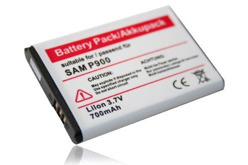 vhbw Li-Ion Akku 700mAh (3.7V) für Handy Smartphone Telefon Samsung P910, P920, SGH-B100, SGH-i320, SGH-M110 wie Samsung AB553446BE, AB553446BU.