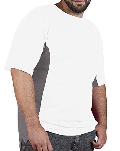 Funktions T-Shirt Herren und Damen unisex Weiß-Dunkelgrau