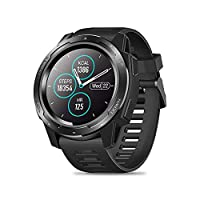 ‏‪Zeblaze VIBE 5 Rugged Smart Watch, IP67 Waterproof, 1.3 Inch IPS Color Screen, Heart Rate Monitor Pedometer Fitness Tracker Watch Outdoor Sports SmartWatch for iOS Android(Black)‬‏
