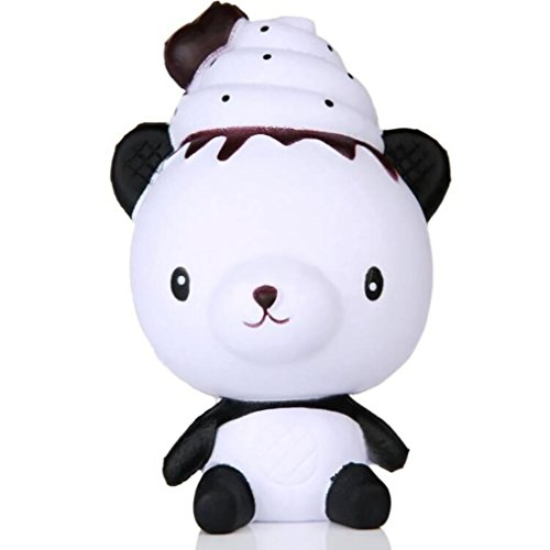 Slow Rising Squishies Poo Panda, Indexp Jumbo Simulation Squeeze Cure Toy Cream Scented Charm Kids Adults Key Cell Phone Pendant Strap Collection Gift