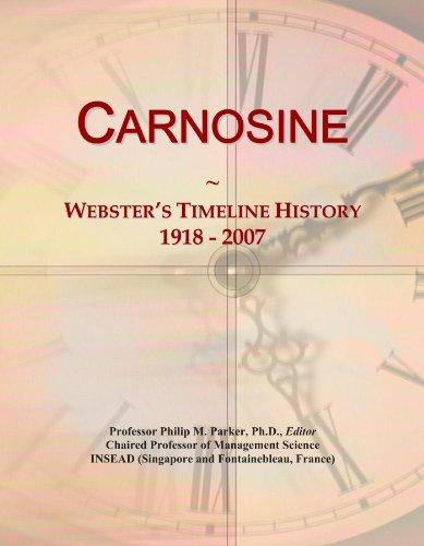 Carnosine: Webster's Timeline History, 1918 - 2007