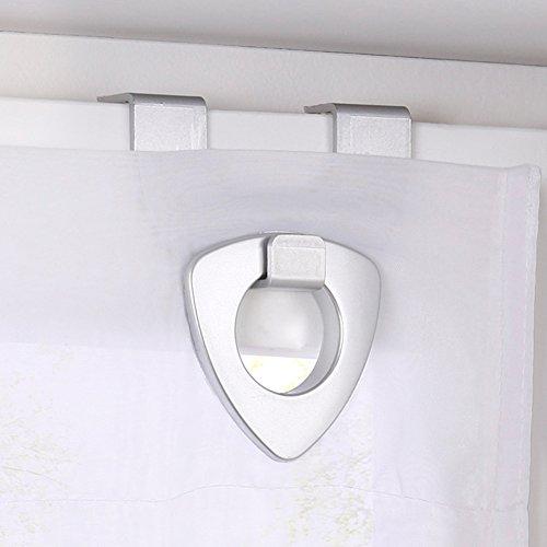 1er-Pack Raffrollo mit U-Haken Weiß Transparent Voile Ösenrollo Vorhang (BxH 120x130cm, Weiß) - 4