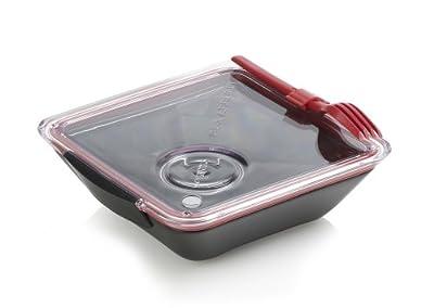 Black + Blum Appetit Lunchbox, Schwarz / Rot von Black+blum