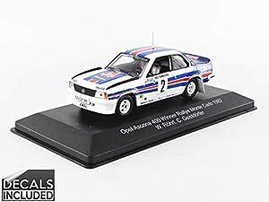 CMR - Coche en Miniatura de colección WRC002, Color Blanco/Azul/Rojo