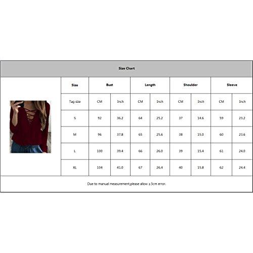 Yuxin Manica Lunga Camicetta per Donna - Moda Chiffon Ruffle Shirt Sexy V Collare Autunno e Primavera Casual Loose Fit Camicia Maglietta Tops Blu scuro