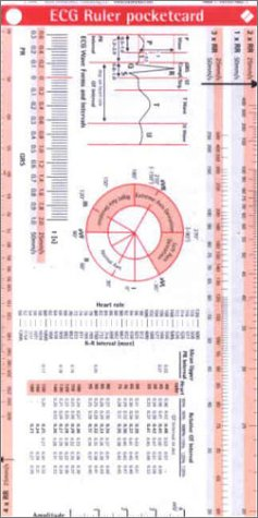 ECG Ruler Pocketcard por Borm Bruckmeier Publishing