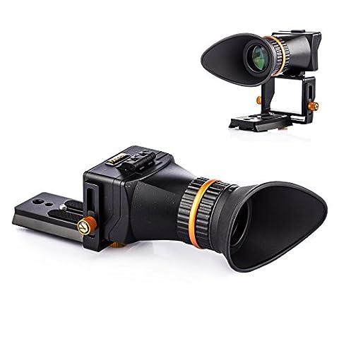TARION TR-V2 Viseur optique LCD 2,5x universel professionnel avec réglage de dioptrie pour Canon Nikon Pentax DSLR, appareil photo hybride avec écran 3