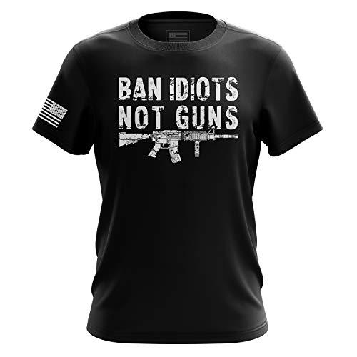 Pro-Gun Herren T-Shirt, Motiv Second Other, American Flag Don't Tread on Mee, Schwarz - 3X-Groß - American Heavyweight T-shirt