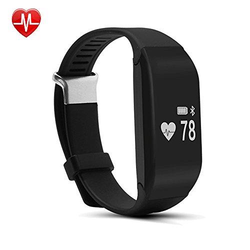Willful SW323 Tracker d'Activité Etanche Bluetooth Bracelet Connecté Montre Cardio Sport Podomètre avec Cardiofréquencemètre,Sommeil,Compteur Calories,Alarme Vibrante,Alertes Appel SMS Compatible iPho...