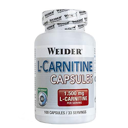 Weider Cápsulas de L-Carnitina - 100 Unidades