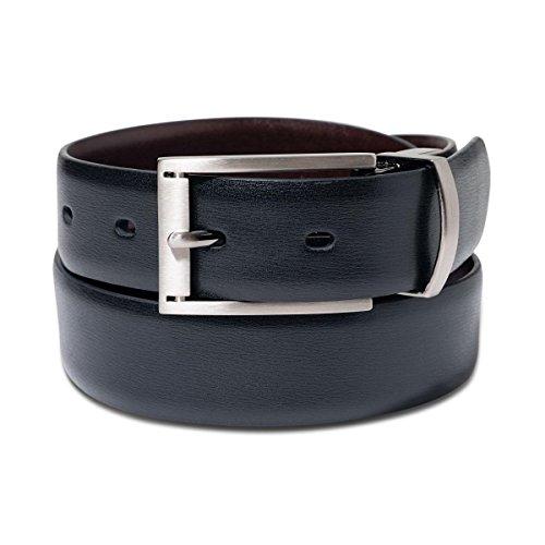 Alfani Mens Leather Reversible Dress Belt Black 44 (Mens Dress Alfani)
