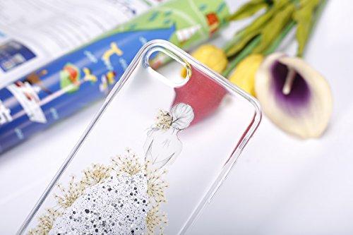 iPhone 7 Plus Cover Case Pailletee,iPhone 8 Plus Coque de Luxe,Hpory élégant Luxe Cristal Bow-knot Motif Bling Brillant Shiny Glitter Strass Ultra Thin Coque pour Femmes Filles Etui Housse de Protecti Les filles,l'argent
