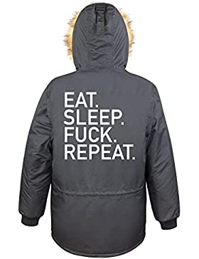 Eat Sleep Fuck Repeat Parka Girls Nero Certified Freak