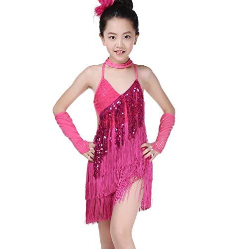 ZYLL Latin Dance Kostüm Tanzwettbewerb Kostüm Mädchen Quaste Hellen Diamant Performance ()