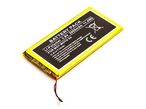 Batteria adatta per Motorola Moto X4, ai polimeri di litio, 3,8 V, 3000 mAh, 11,4 Wh, built-in, senza attrezz