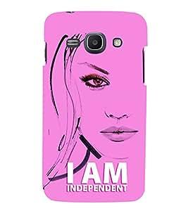 FUSON I Am Independent Lady 3D Hard Polycarbonate Designer Back Case Cover for Samsung Galaxy Ace 3 :: Samsung Galaxy Ace 3 S7272 Duos :: Samsung Galaxy Ace 3 3G S7270 :: Samsung Galaxy Ace 3 Lte S7275