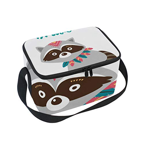 SKYDA Lunchpaket Box Insulated Lunchpaket Bag Large Cooler Be Brave Fox Tote Bag for Men, Women, Girls, Boys